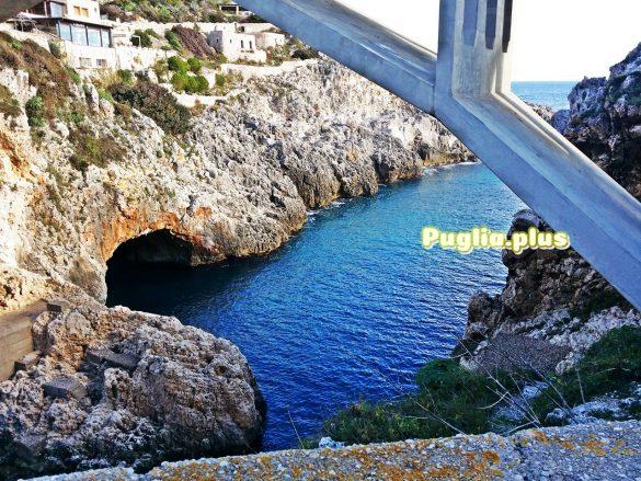 Ciolo Schlucht, Brücke, Eingang zur großen Grotte