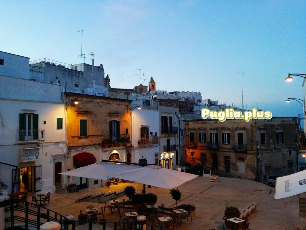 Ostuni weiße Stadt Abendstimung Tramonto
