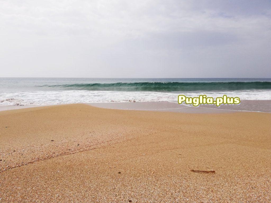 im rücken die Dünen, entspannter Strand Torre Colimena