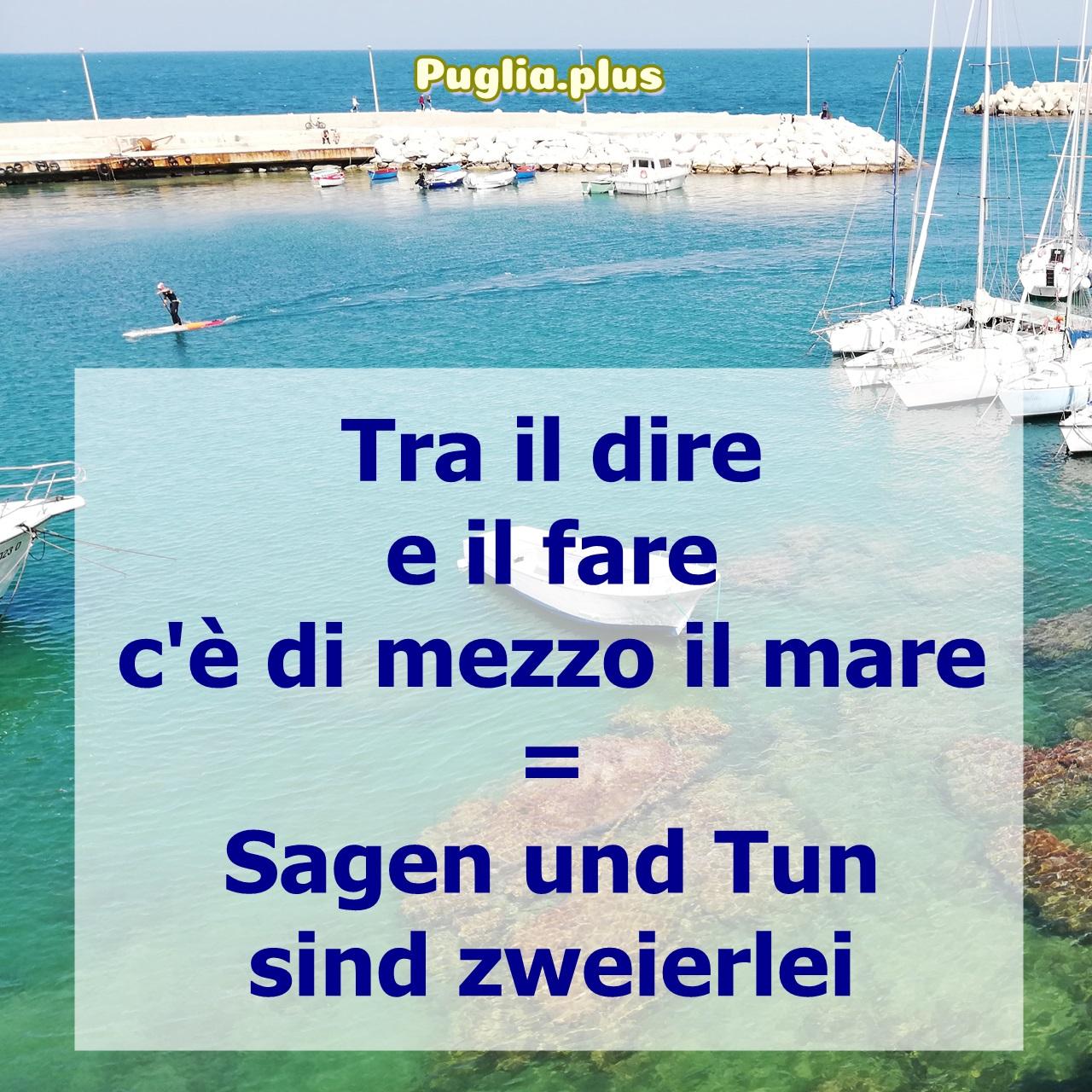 italienische Redewendung Meer