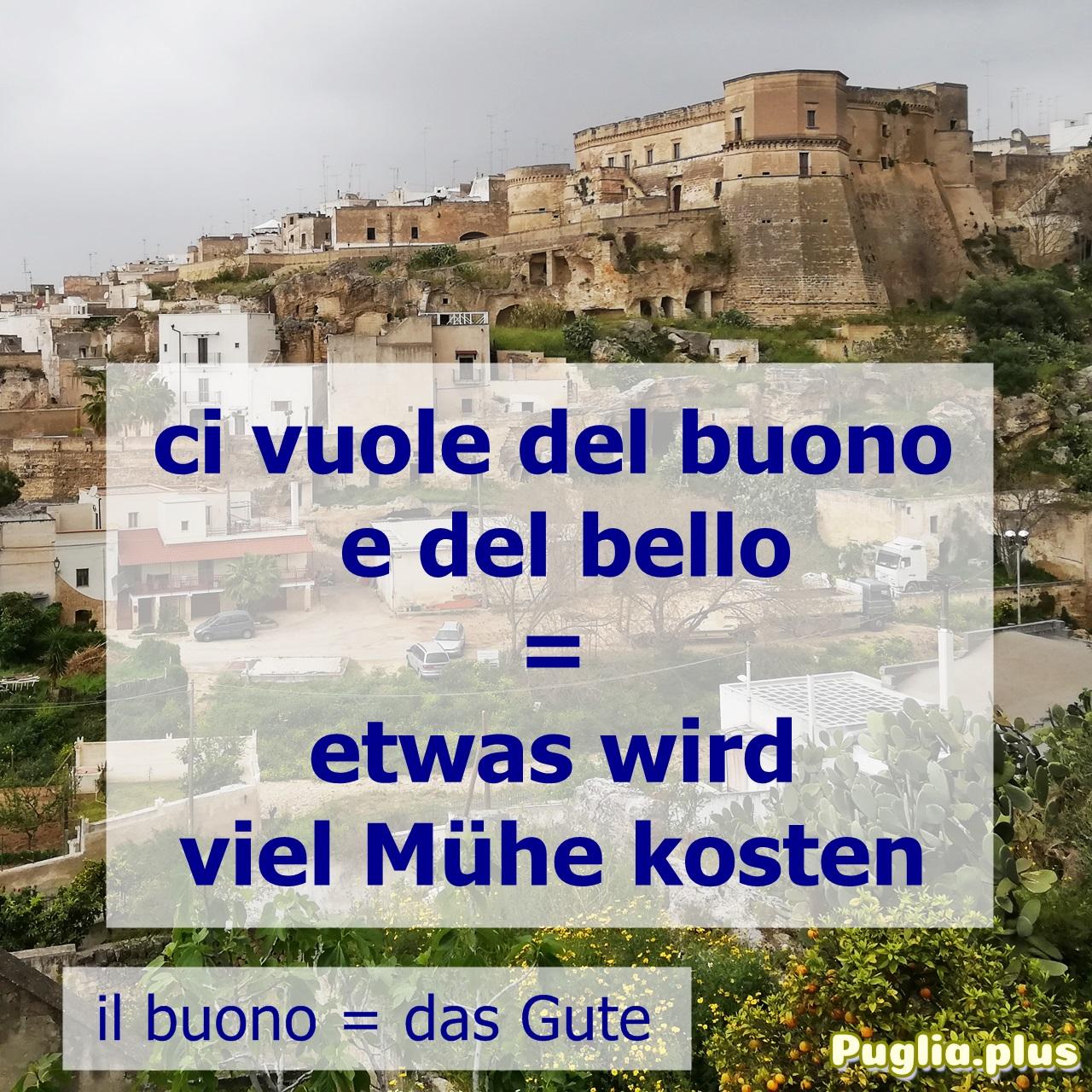 Redensart italienisch buono, bello
